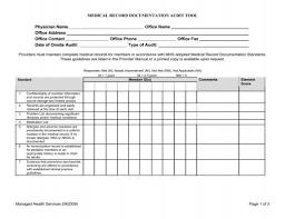 Medical Record Documentation Audit Tool Mhs Indiana