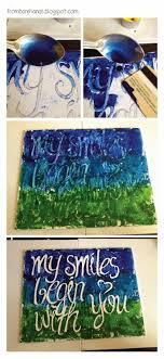DIY: Quote Posters (Canvas and Melted Crayons) write on sticker paper and  peel off