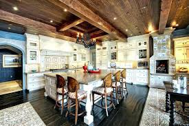 rustic kitchen islands with seating image by custom mountain architects island seati