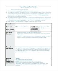 It Project Proposal Template Free Download Free Project Proposal Templates Tips Sample Pdf For Word