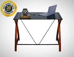 office computer tables. OneSpace Black Glass And Wood Computer Desk Workstation Home Office Brand New Tables C