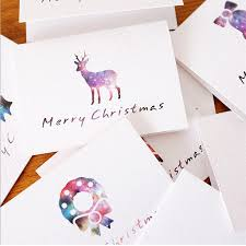 Us 2 7 29 Off 9pcs Lot Star Mini Creative Fold Christmas Card Writing Paper Stationery Kawaii Birthday Christmas Message Card Envelop Gift In Paper