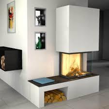 Innenarchitektur Sch Nes Steinwand Wohnzimmer Ofen