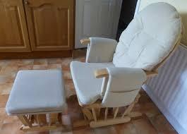 hauck glider deluxe recliner nursing chair stool walnut beige