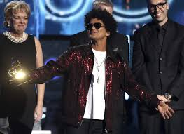 bruno mars accepts the award for record of the year for 24k magic at the 60th annual grammy awards at madison square garden on sunday jan