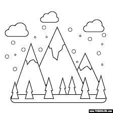 Christmas coloring pages for kids & adults to color in and celebrate all things christmas, from santa to snowmen to festive holiday scenes! Winter Online Coloring Pages