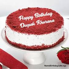 Deepak Khurana Name Birthday Cake