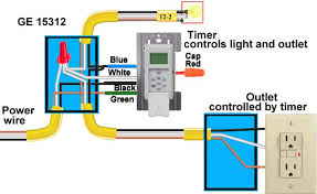 how to wire ge 15312 sunsmart timer for single pole & 3 way Wiring A Electric Timer how to wire so timer controls both light and outlet install electric timer
