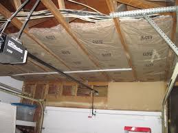 garage ceiling insulation. Simple Insulation Partiallydone Ceiling Insulation To Garage Ceiling Insulation M