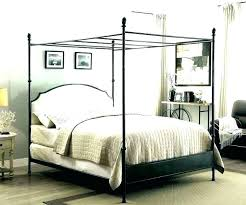 Wrought Iron Canopy Bed Frame Queen Metal Beds Frames Love Black ...