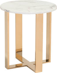 zuo atlas end table stone and gold