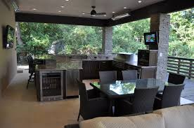 ... Kitchen Large Size Monochromatic Brown Outdoor Kitchen Color With  Minimalist U Shaped Kitchen Set Before ...