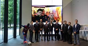 FC Barcelona President Bartomeu and Vice President Moix Visit ...
