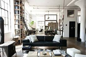 industrial style living room furniture. Industrial Living Room Furniture With Brown Leather Sofa And Grey Single Near Style