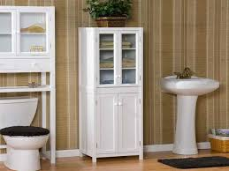 White Floor Bathroom Cabinet Bathroom High Cabinets