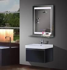 Bathrooms Design Circle Light Mirror Free Standing Bathroom
