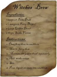 Recipe Labels Witches Brew Halloween Magic Recipe Labels Baking Soda Vinegar
