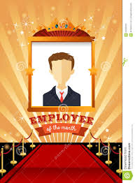 Employee Of The Month Photo Frame Employee Of The Month Poster Frame Stock Vector Illustration Of