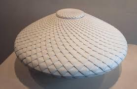 Michael Wisner Michael Wisner White Pinecone With Lid Ceramic Sculpture For Sale
