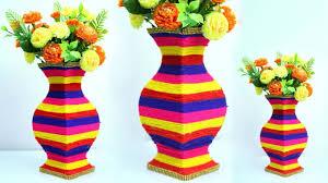 Big Flower Vase Design Gorgeous Big Flower Vase Making At Home Very Easy Paper Wool Flower Vase Make