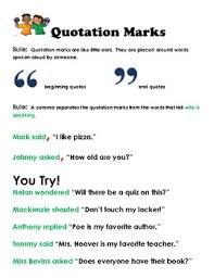quotes marks using quotation marks correctly creative teaching packet tpt