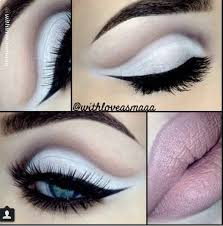 white eyeshadow cut crease with