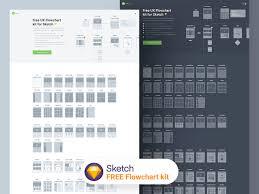 Free Flowchart Kit 2 0 For Sketch App Free Ui Kit Sketch