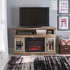 better homes gardens crossmill electric weathered finish fireplace media console