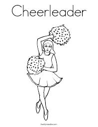Clip Art Cheerleader Free Printable Cheerleading Coloring Pages Of