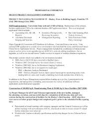 Project Manager Experience Resume Fresh Oracle Project Manager