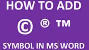 How To Make Tm Symbol Word 2010 Insert Symbols Microsoft Office 2010 Training Music