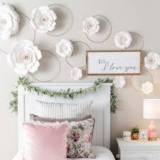 paper flower wall diy
