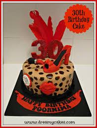 30th Birthday Cake Leopard Print Cake Design