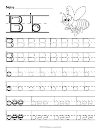 Letter Tracing Templates Letter B Tracing Konmar Mcpgroup Co