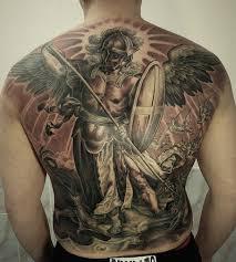 фото тату архангел в стиле реализм от мастера роман кузнецов