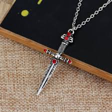 gryffindor s sword jewelry harry potter horcrux hogwarts school badge necklace