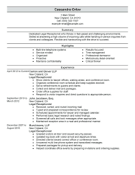 Receptionist Resumes Examples Spa Receptionist Resume Receptionist ...