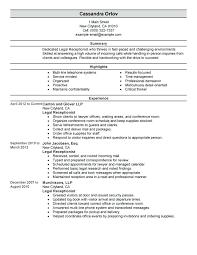 Receptionist Resumes Examples Spa Receptionist Resume Receptionist ...