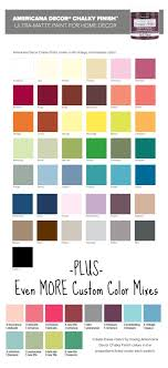 Americana Chalk Paint Color Chart Americana Decor Chalky Finish Paint Color Selection Updated