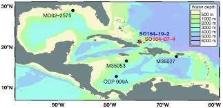 Bathymetric Chart Of The Caribbean And The Gulf Of Mexico