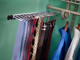 sliding tie and belt rack