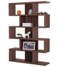 shelves for office. modern bookcase with five shelves home office furniture matte walnut finish new for
