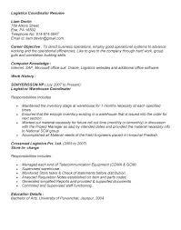 Agreeable Sample Resume For International Logistics Manager For Your ...