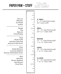 Terrier Size Chart Size Chart Paper Paw Stuff