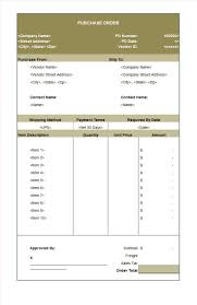 Purchase Order Form 24 Free Purchase Order Templates In Word Excel 20