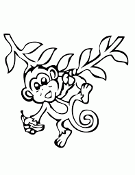 Cute Baby Monkey Coloring Pages Printables 503962 Printable