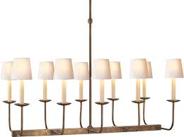 linear chandelier with shade tt branched 10 light dual and 0 on intended for amazing home linear chandelier with shade ideas
