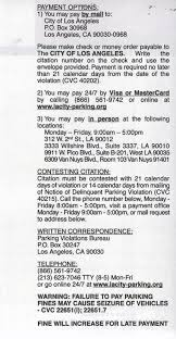 for an exle of a ticket from the city of los angeles
