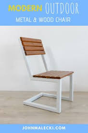 how to build a simple modern outdoor chair
