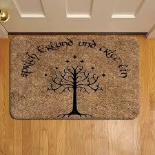 Speak Friend And Enter Doors Durin Grass 647 Door Mat Rug